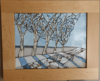 Five-Winter-Trees-Framed