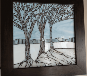 Three-Winter-Trees-Framed