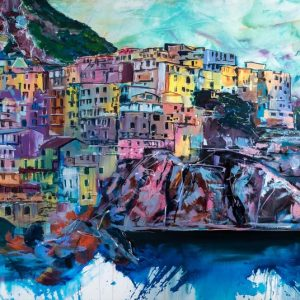 Painting of the Amalfi coast