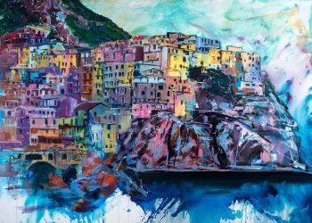 Painting of the Amalfi coast