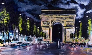 painting of Arc De Triumphe