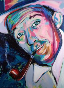 Bing Crosby painting