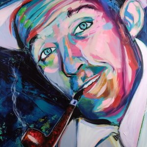 Bing Crosby painting
